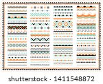 festive border  pattern set.... | Shutterstock .eps vector #1411548872