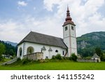 a church deep within slovenia ... | Shutterstock . vector #141155242