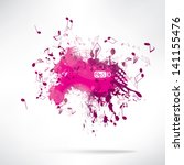 abstract background notes and... | Shutterstock .eps vector #141155476
