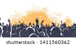 illustration of large crowd of... | Shutterstock .eps vector #1411560362