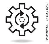 process icon. isolated cogwheel ... | Shutterstock .eps vector #1411571648