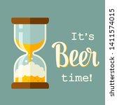 beer time concept illustration...   Shutterstock .eps vector #1411574015
