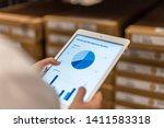 smart warehouse management... | Shutterstock . vector #1411583318