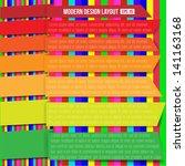 modern bright layout design | Shutterstock .eps vector #141163168