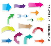 set of arrows with shadows | Shutterstock . vector #141163492