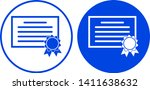 certificate icon in circle.... | Shutterstock .eps vector #1411638632