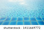 poolside with blurred blue...   Shutterstock . vector #1411669772