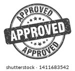 approved round grunge isolated... | Shutterstock .eps vector #1411683542