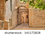 Narrow Cobbled Street Among...