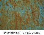 grunge rusty metal background... | Shutterstock . vector #1411729388