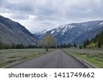 Sun Valley, Badger Canyon in Sawtooth Mountains National Forest Landscape panorama views from Trail Creek Road in Idaho. United States.