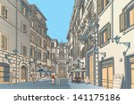 highly detailed vector sketch... | Shutterstock .eps vector #141175186