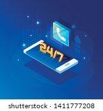vector  isometric illustration. ...   Shutterstock .eps vector #1411777208