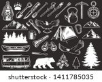 vintage outdoor recreation... | Shutterstock .eps vector #1411785035
