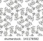 abstract vector seamless black...   Shutterstock .eps vector #141178582