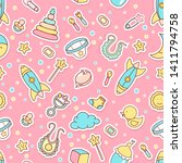 vector seamless pattern with...   Shutterstock .eps vector #1411794758
