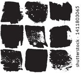 set of vector grunge brushes in ... | Shutterstock .eps vector #1411803065