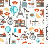 paris seamless pattern... | Shutterstock .eps vector #1411805762