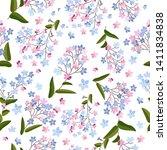 forget me not flowers. flower...   Shutterstock .eps vector #1411834838