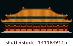 the forbidden palace in china... | Shutterstock .eps vector #1411849115