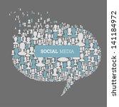 social media bubble speech... | Shutterstock . vector #141184972
