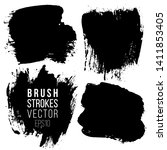 set of brush strokes. abstract... | Shutterstock .eps vector #1411853405