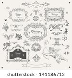 set of ornamental design... | Shutterstock .eps vector #141186712