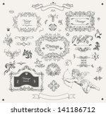 set of ornamental design... | Shutterstock .eps vector #141186712