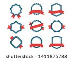 ribbons and labels. design... | Shutterstock .eps vector #1411875788