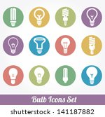 light bulbs. bulb icon set | Shutterstock .eps vector #141187882