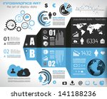 infographic elements   set of... | Shutterstock . vector #141188236