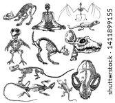 alchemy symbol elements set.... | Shutterstock .eps vector #1411899155