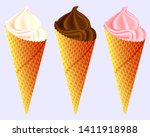 different flavors of ice cream... | Shutterstock .eps vector #1411918988