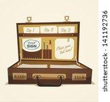 open briefcase  business... | Shutterstock .eps vector #141192736