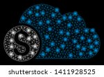 bright mesh banking cloud with... | Shutterstock .eps vector #1411928525