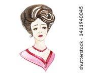 Retro Style Watercolor Portrait ...
