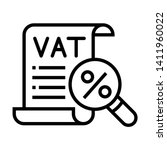Vat Taxes Icon. Expense Report...