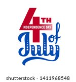 4th of july. usa independence... | Shutterstock .eps vector #1411968548