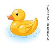 Vector Yellow Duck For Bath