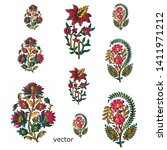 colorful paisley motif white... | Shutterstock .eps vector #1411971212
