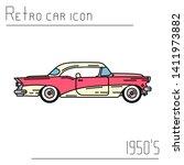 color vector icon american auto ... | Shutterstock .eps vector #1411973882