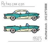 color vector icon set american...   Shutterstock .eps vector #1411973888