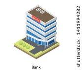 bank building vector in... | Shutterstock .eps vector #1411994282