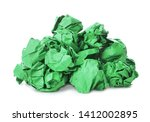 pile of color crumpled sheets...   Shutterstock . vector #1412002895