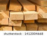 Stacked lumber. folded wood...