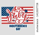 text 4th of july. independence... | Shutterstock .eps vector #1412037728