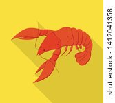 vector design of lobster and... | Shutterstock .eps vector #1412041358