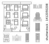 vector design of architecture... | Shutterstock .eps vector #1412050208