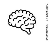 vector black icon for human...   Shutterstock .eps vector #1412052092