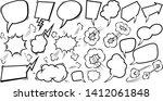 set of empty comic speech... | Shutterstock .eps vector #1412061848